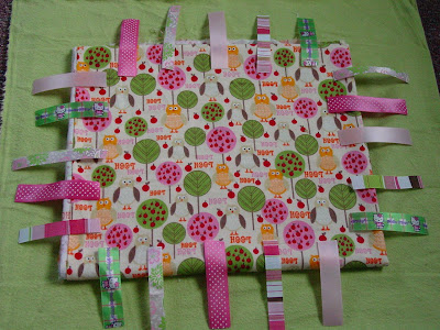 Taggie Baby Blanket ~ Free Tutorial ~ how to make your own