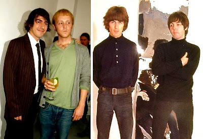 Dhani Harrison And James McCartney In 2007 To Dads George Paul 1966 I Find It Amazing How Face Is Perfectly Similar