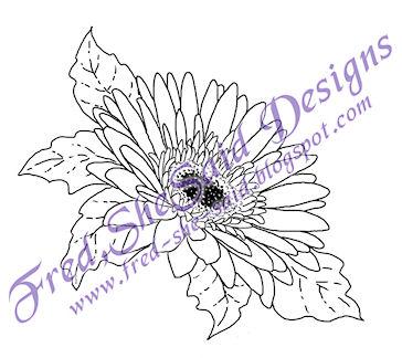 Gerbera Daisy Line Drawing Gerber Daisies Drawing...