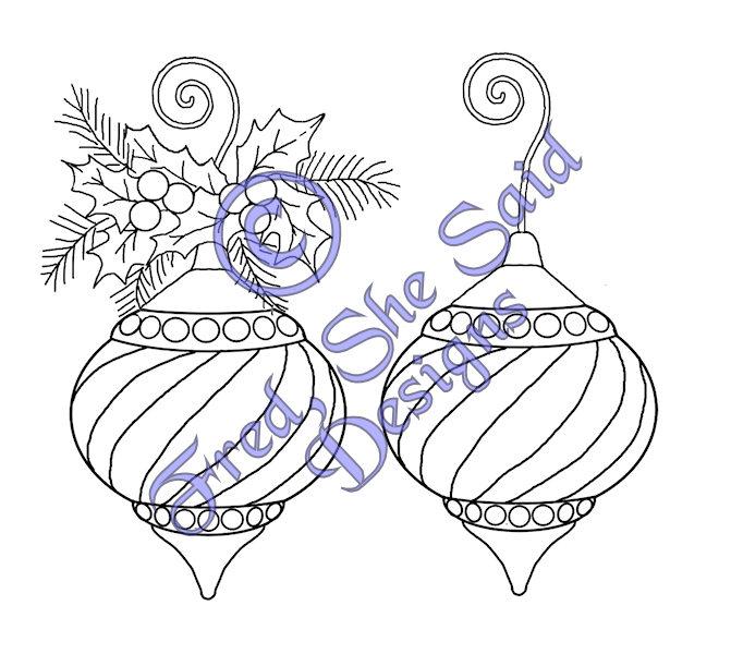 Christmas Ornament Outline Christmas ornament 2 digi