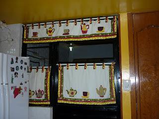 patchwork ahora he hecho para mi cocina un coordinado, mis cortinas y