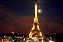 Eiffel Tower with Full Moon