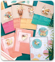 Handmade New Year Greetings Theme Cards