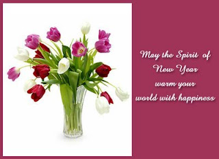 Free New Year Flowers eCards