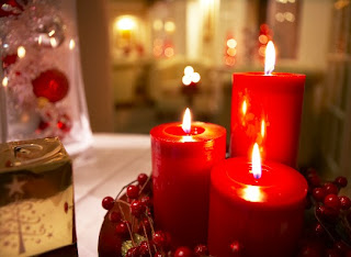 New Year Celebration Candles