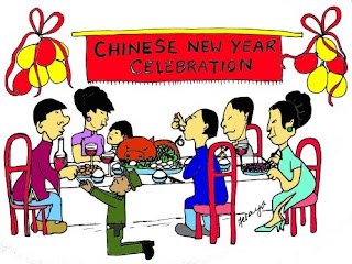 Chinese New Year Cartoon Card