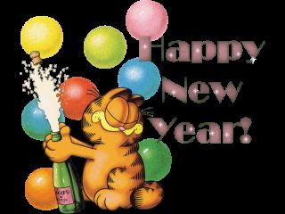 New Year Garfield Cards