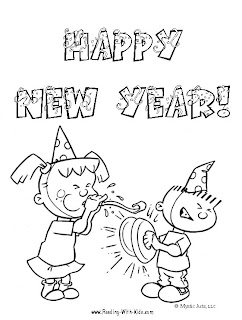 happy new year kids card