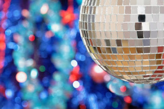 new years disco ball card