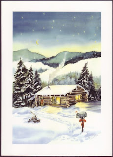 New Year Winter Snow Card