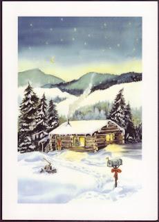 New Year Winter Snow Card