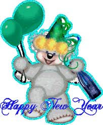happy new year glittering wishes