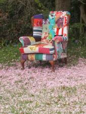 Kelly Swallow Patchwork Chairs