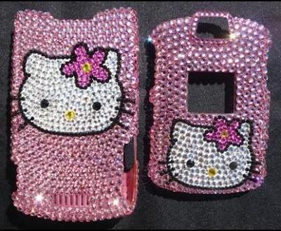 Hello Kitty Swarovski Motorola RAZR V3 Snap-On Cover Case