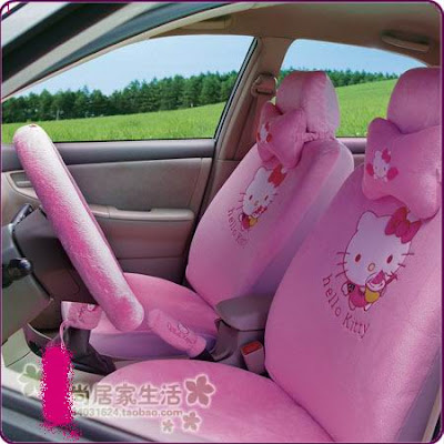 hello kitty car seat. This full 19 pcs Hello Kitty car seat cover set includes;