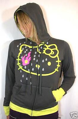 New HELLO KITTY Punk Zip Hoodie Jacket
