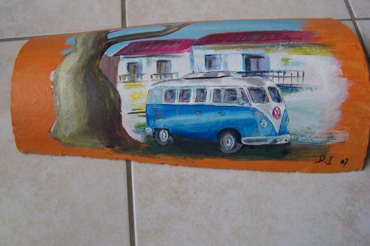 Encore des peintures sur tuile