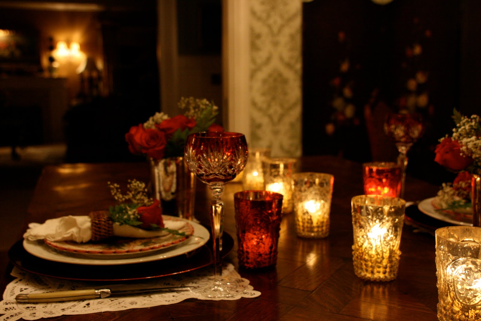 Candle light dinner table for two - In Your Smart Home