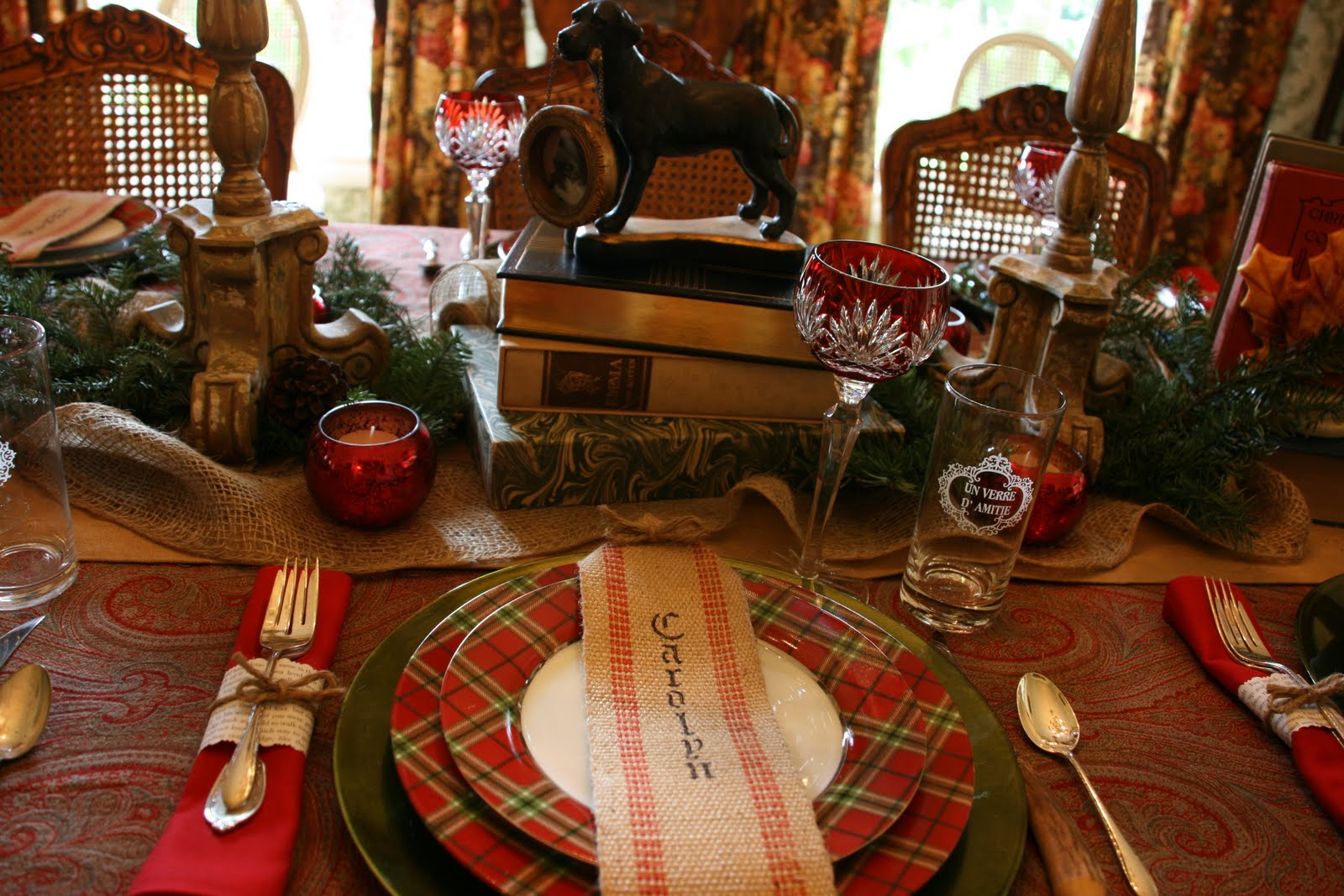 vignette design: end of year book club dinner- a tablescape