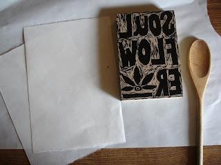 printing5 - Process: New Soul Flower Block Print Tee!