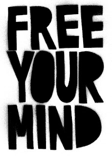 spraypaint black white - Free Your Mind T-Shirt: Design Process
