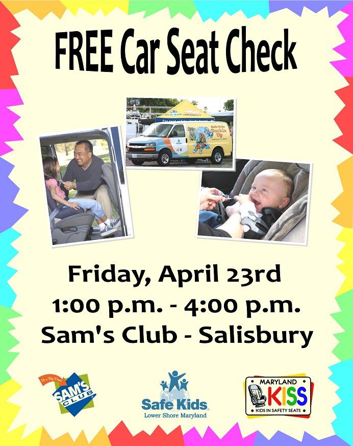 FREE Car Seat Check Today At Sams Club