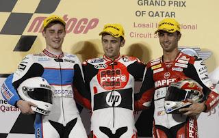 Pepephone Héctor Barberá campeón primera carrera 250cc, Gran Premio de Qatar