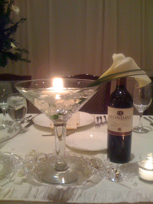 martini glass centerpieces. Martini Glass Centerpieces