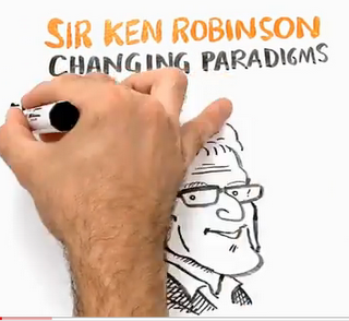 sketch of Ken Robinson