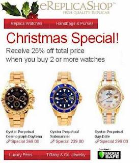 Christmas replicas spam
