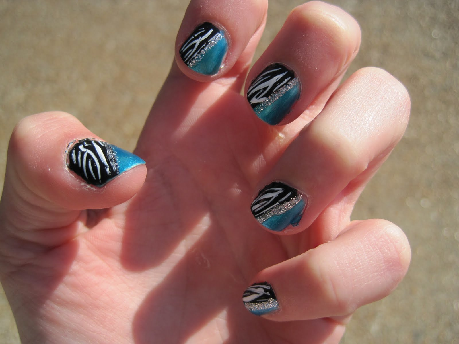 The Exciting Zebra print nail art designs Photo