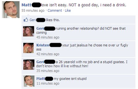 funny facebook status comments
