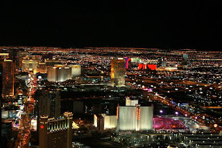 Las Vegas at Night - View from Stratosphere