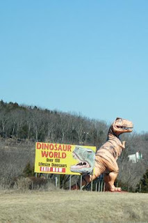 Road Sign: Dinosaur World
