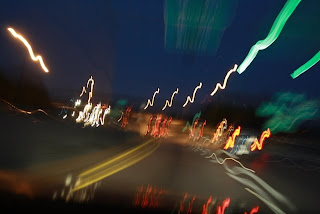 Long Exposure, Night Photo of Highway
