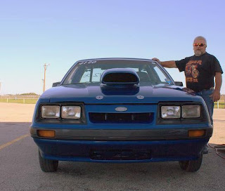 1986 Ford Mustang Fox-Body Front View at Marion, TX Race Track