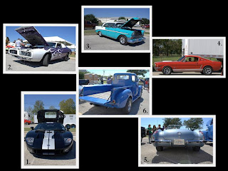 Collage of Car Show at Simpson Racing in New Braunfels, TX