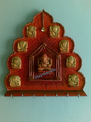 shayona crafts ashtavinayak key holder On mural key holder
