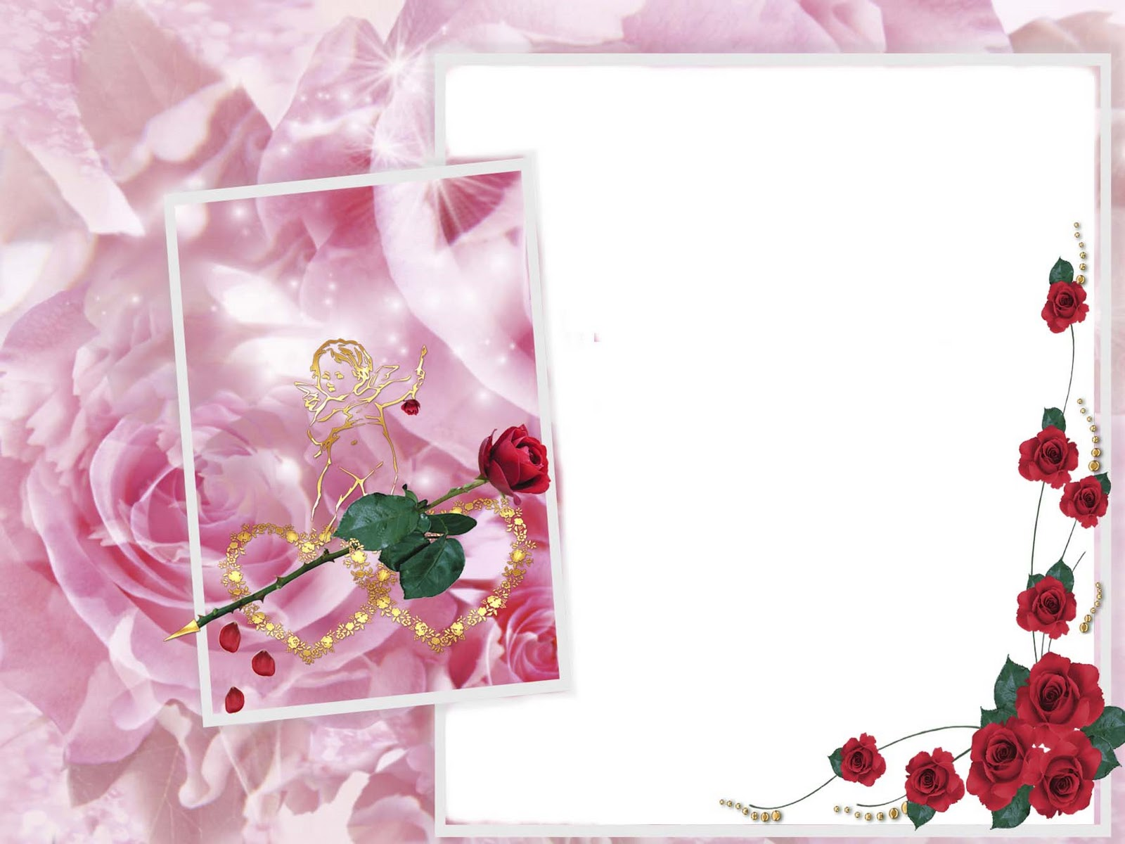 Roses Photo Frame Angel