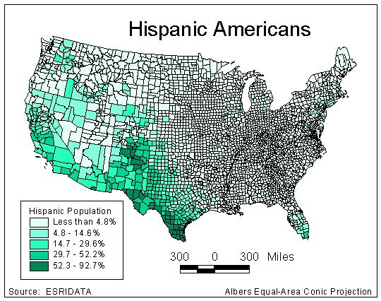Shannons Map Catalog GIS - Choropleth map us projection