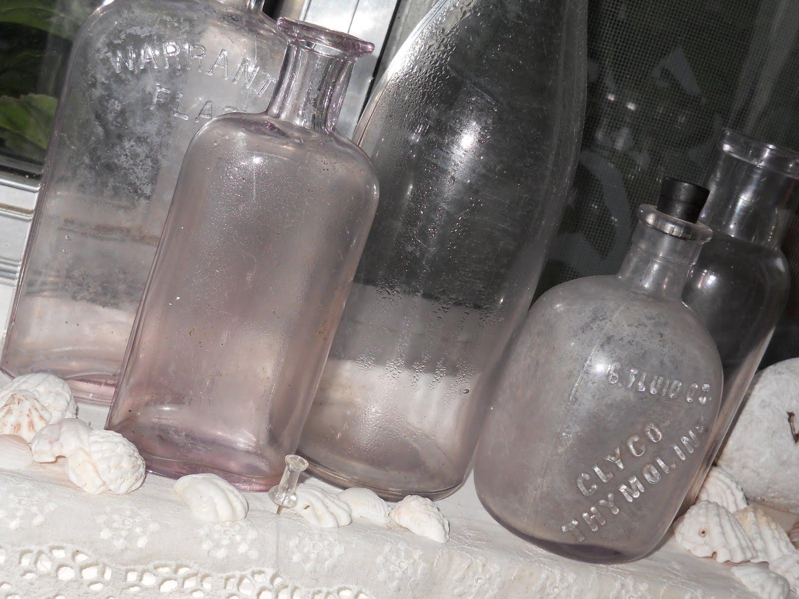 Lakehouse: Vintage lavender bottles