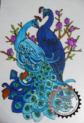 Art and craft work peacock glass painting for Using fabric paint on glass