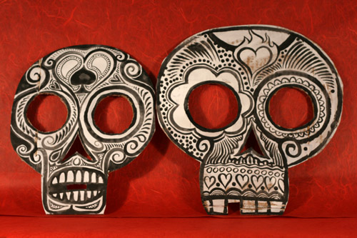 day of the dead masks template. day of the dead masks template