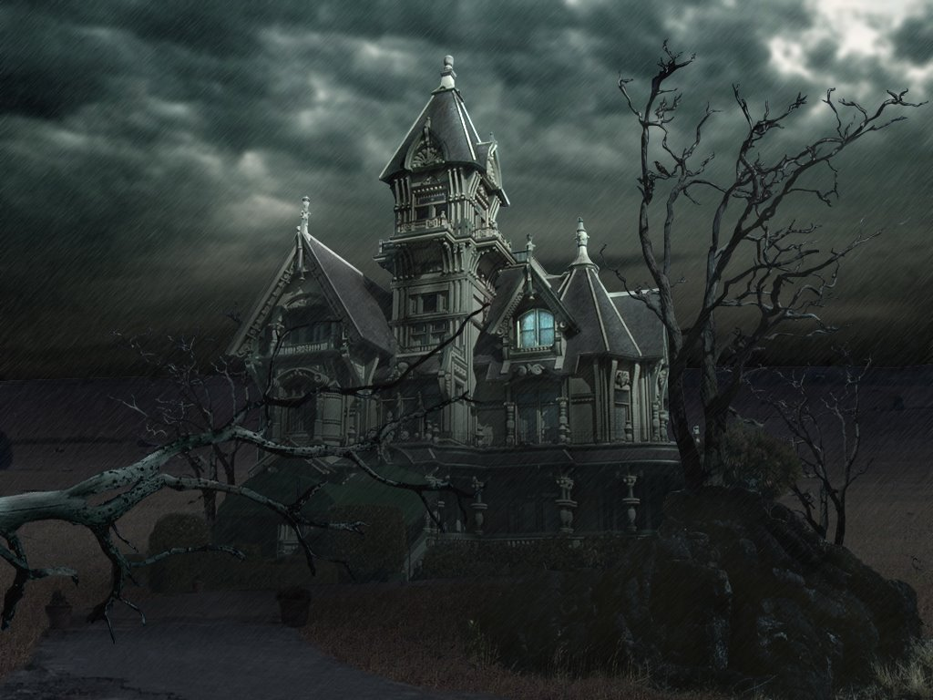 haunted house wallpaper - photo #13
