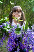 La princesa entre flores