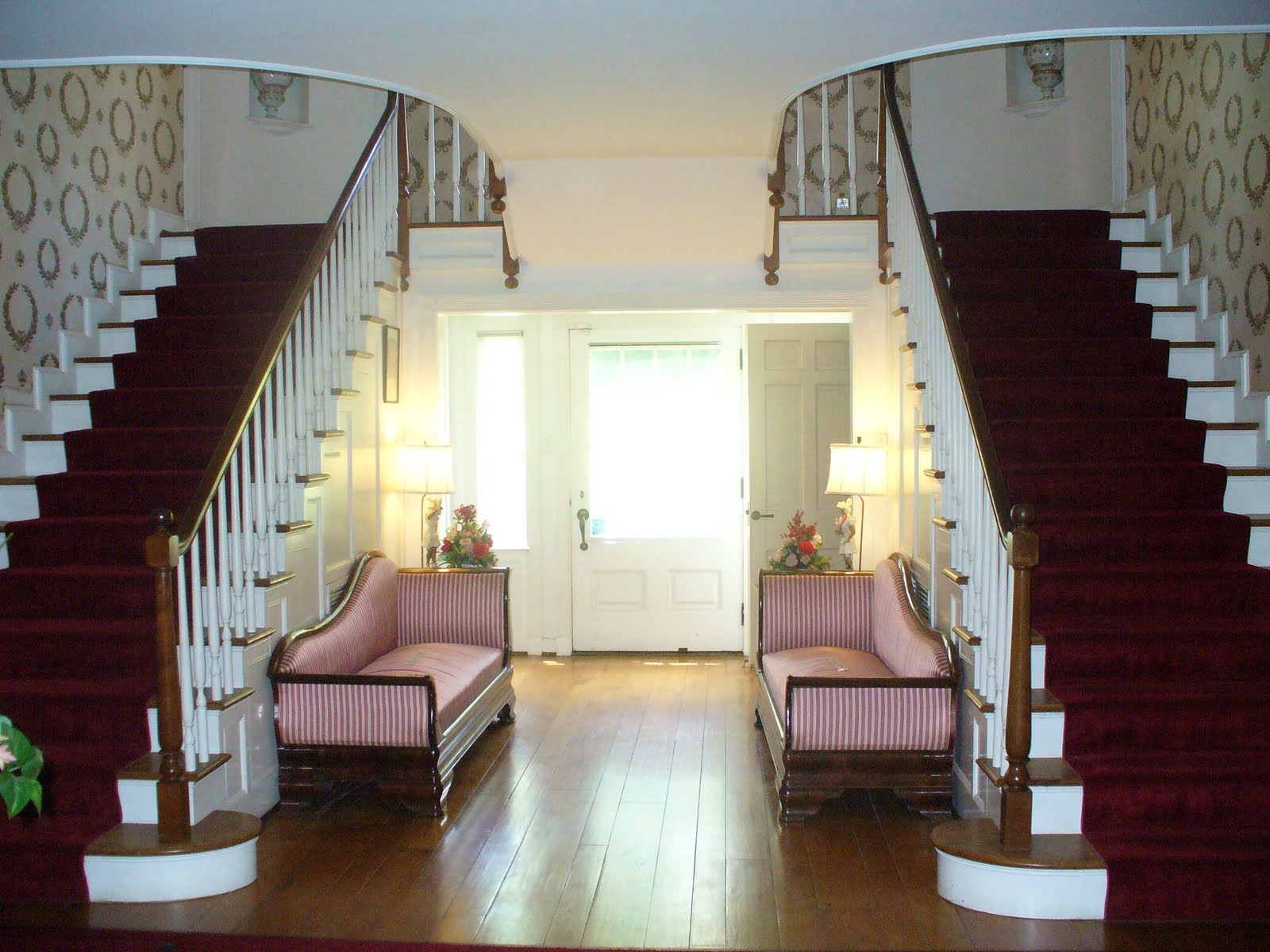 This Is The Front Room Where Humphrey And Lauren Exchanged Vows Had Wedding Reception They Stood Right In Center Part Of Two Staircases