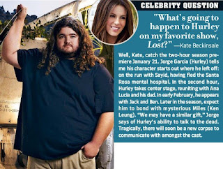 Thanks to Christopher for the heads up on this little article in TV Guide Magazine Kate Beckinsale asks Jorge