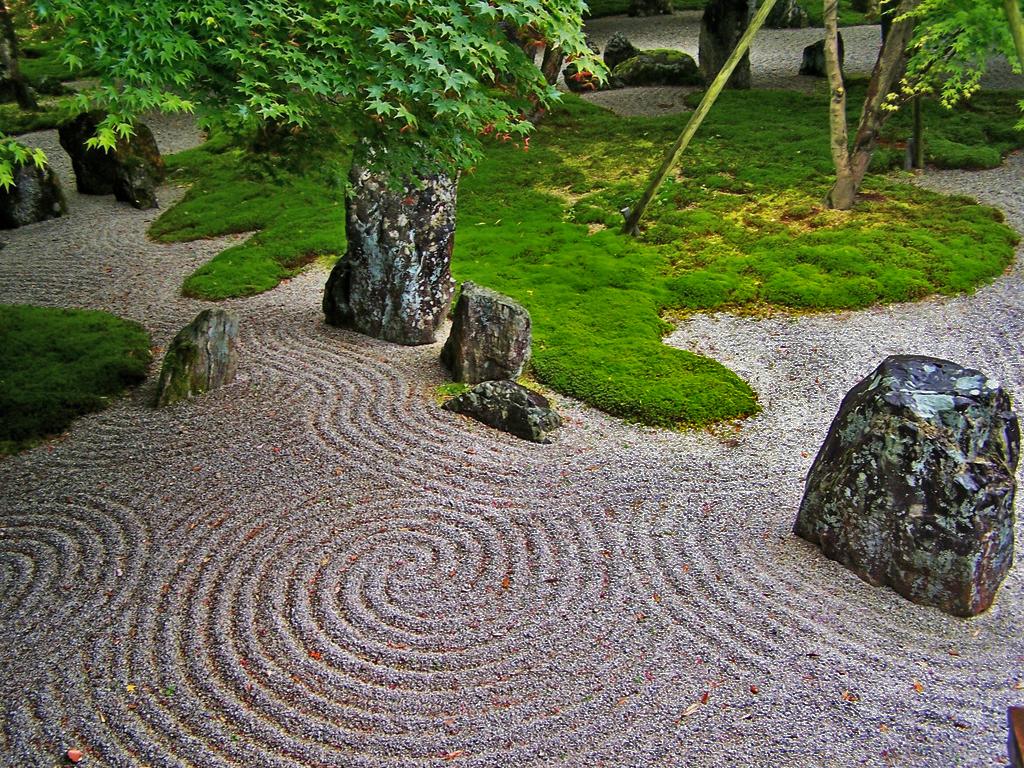 Japanese Zen Rock Garden 1024 x 768