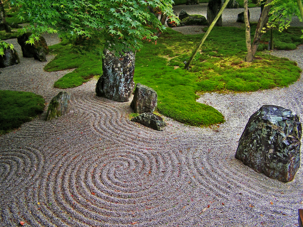 The japanese rock gardens 枯山水