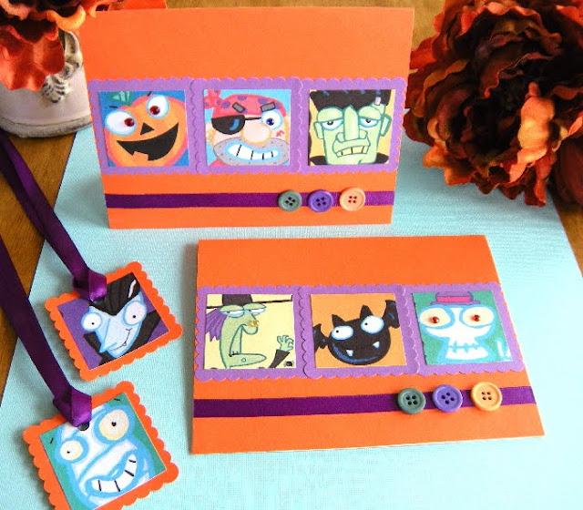 http://tarjetasamano.blogspot.com/2012/08/tarjeta-halloween-monsters.html